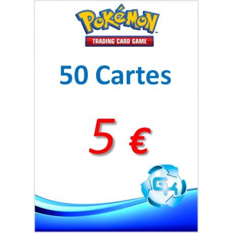 PAQUET DE 50 CARTES POKEMON_OCCASION